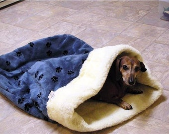 Sleeping Bag or your pet that loves to burrow - Size small (under 12 pounds) by Doodlebug Duds