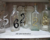 Vintage bottle with numbers.....single bottle