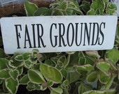 Vintage horse track magnetic sign FAIR GROUNDS