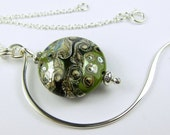 Chaperone - Silver and Organic Lampwork Pendant