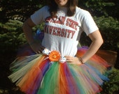 Adult Size Tutu With Free Coordinating Flower Clip by Cuddlehugs