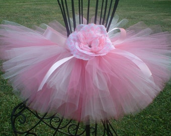 Bubblegum Tutu by Cuddlehugs With Free Coordinating Flower Clip