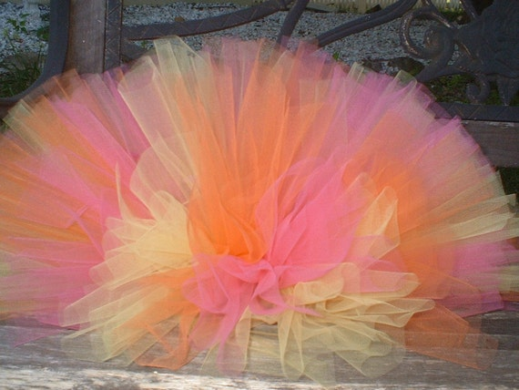 You Choose Colors - Tutu by Cuddlehugs With Free Coordinating Flower Clip - Birthdays Parties