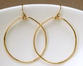 Gold Filled Hammered Hoops
