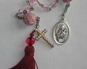 St Teresa Pink Rosebud Chotkis