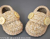 ECO Natural Cotton Baby Boy Booties for 3-6 month