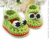 Crazy Frogs Baby Booties- Made to ORDER