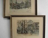 Vintage Scenes from the Netherlands Jan Korthals Framed Prints