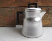 Vintage Camp Style Aluminum Coffee Pot Percolator