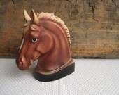 Vintage Horse Head Bookend Enesco Japan
