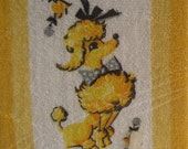 Vintage Yellow Poodle Guest Towel Set in Package by Lila Lou