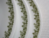 Vintage Corelle Spring Blossom Dinner Plates set of 3