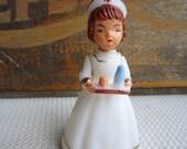 Vintage Nurse Get Well Soon Wilton Cake Topper Decoration White Dress Red Cross Hat