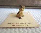 Vintage Owl Hagen Renaker Figurine on Original Card