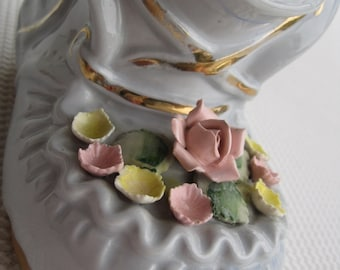 Vintage Lefton Baby Shoe Planter