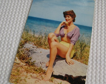 Vintage Beach Beauty Unused Postcard