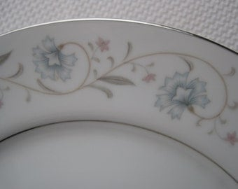 Vintage English Garden Platinum by Fine China of Japan Dinner Plates