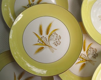 Vintage Autumn Gold Dinner Plates set of four by Century Service Corp