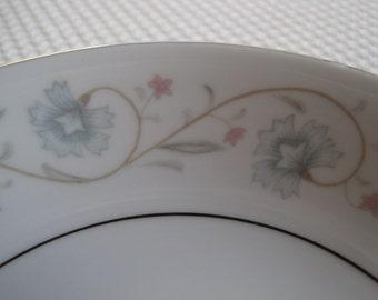 Vintage English Garden Platinum by Fine China of Japan Fruit/Dessert Bowls