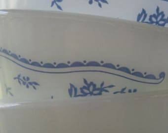 Vintage Morning Blue Pyrex Coffee Cups set of three