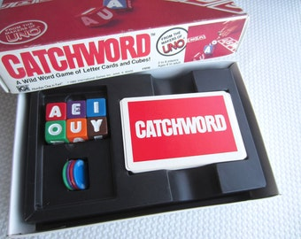 Vintage 1982 Catchword Letter Card Game by International Games