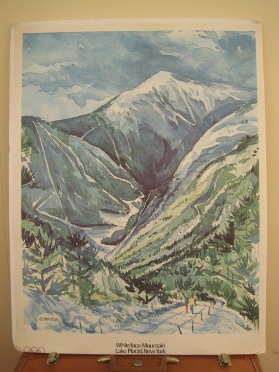 Vintage Olympic Whiteface Mountain Lake Placid Poster