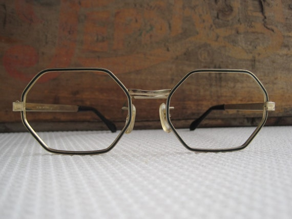Vintage Octagon Eyeglass Frames By Corrnucopia On Etsy
