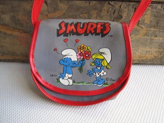 Vintage Smurf Purse made in Hong Kong
