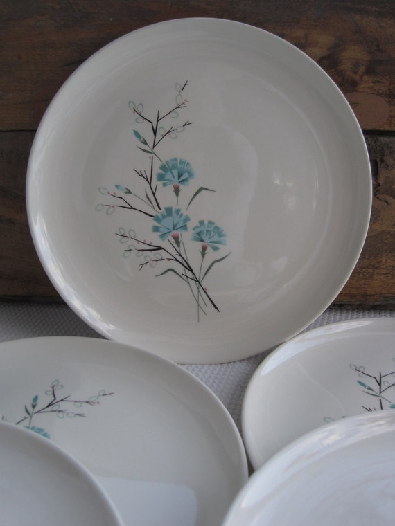 Reserved Vintage Buttons and Beaux Harmony House Dinner Plates