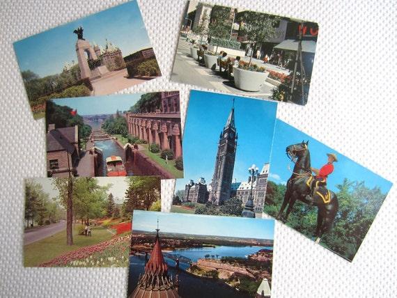 Vintage Ottawa Canada Souvenir Postcards