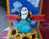 Dia De Los Muertos Altar/ Original Art/Folk art/ Day of the Dead