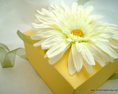 Yellow Daisy Topped Gift Box, SALE