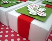 Christmas Candy Boxes, White, Set of Ten