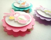 Easter Bunny Favor Bag Toppers, Set of Ten