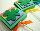 Shamrock and Rainbow Lollipop Party Favors, Set of Ten