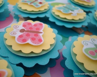 Butterfly Favor Bag Toppers, Set of Ten