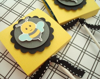 Bumblebee Lollipop Favors, Set of Ten