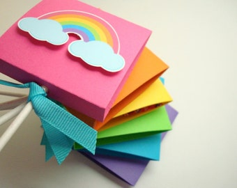 Bright Rainbow Lollipop Party Favors, Set of Ten