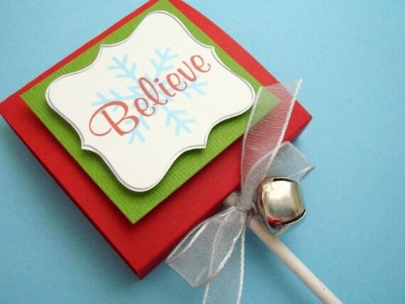 Believe, Christmas Lollipop Favors, Set of Ten