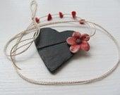 My BlacK  HeaRt----------------- Ceramic Necklace