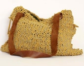 Up-CycledTricot -------- TricotandLeather. HandBag.