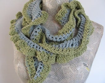 Handknitted scarf for men women-------100percent Cotton---christmas gift---Gift under 40 USD