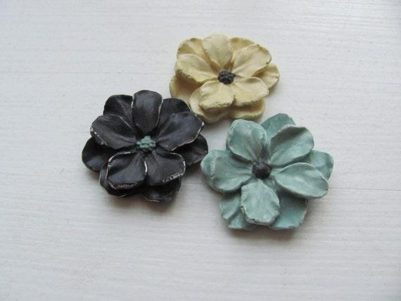 Flowers decor -------------Black---Yellow---Light Blue---Ceramics Holiday gift.