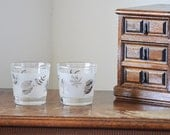 Frosted Leaf Glasses Tumblers Silver