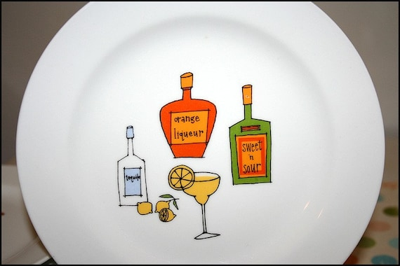 Margarita tequila canape plates by ursula dodge for Canape insurance