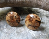 RESERVED LISTING for circaliving - Spectacular Spalted Maple Wood Cuff Links - Perfect for the Groom or Best Man - 3/4 inch Diameter