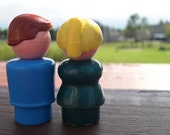 Vintage Fisher Price Little People Loving Couple
