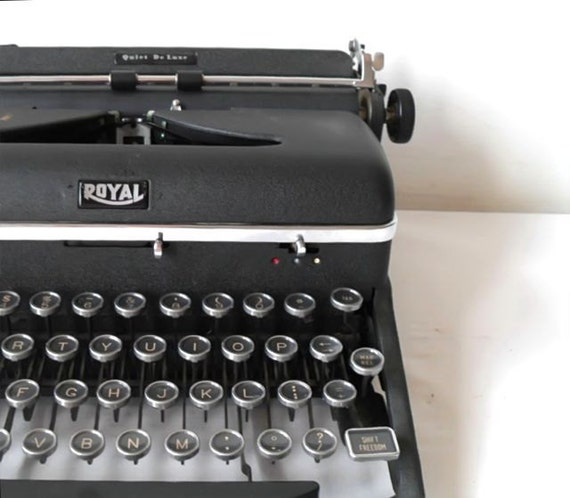 Reserved for Gwendy.  Vintage Typewriter Royal Quiet Deluxe Manual