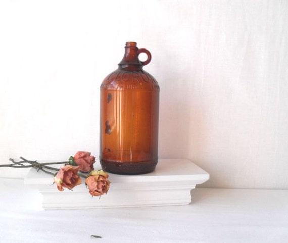 Half Gallon Amber Glass Clorox Bottle 1940s