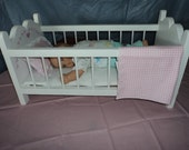 Crib for your Bitty Baby or 14 to 17 inch Dolls, Doll Bed